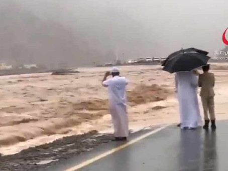 UAE is covered with Rainfall and Thunderstorm