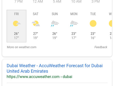 UAE Rain confirmed by forecaste 4 days after our announcement