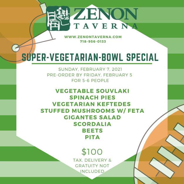 Vegetarian Super Bowl Special for 5 - 6
