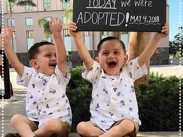 Adoption Day Announcement - The Perez-Gutierrez Family