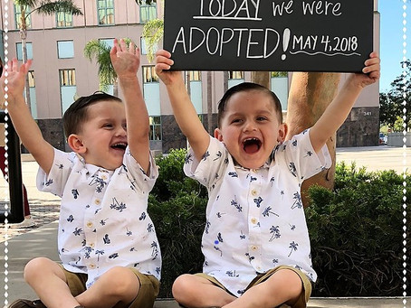 Adoption Day Announcement - The Perez-Gutierrez Family