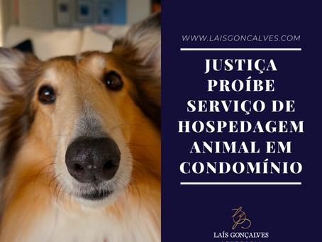 Justiça proíbe serviço de hospedagem animal em condomínio