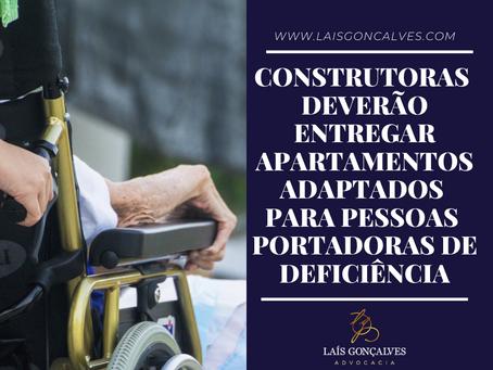 Construtoras deverão entregar apartamentos adaptados para pessoas portadoras de deficiência