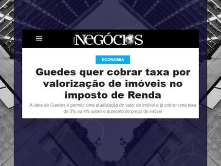 Ministro da Economia quer cobrar taxa por valorização de imóveis no imposto de Renda