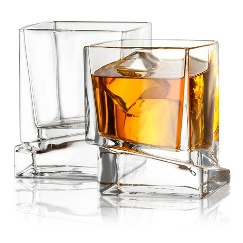 Carre Whiskey Old Fashioned Glasses (set of 2)