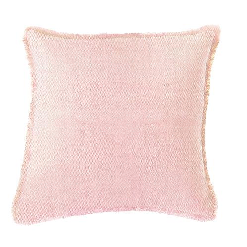 Light Pink Solid Soft Linen Pillow