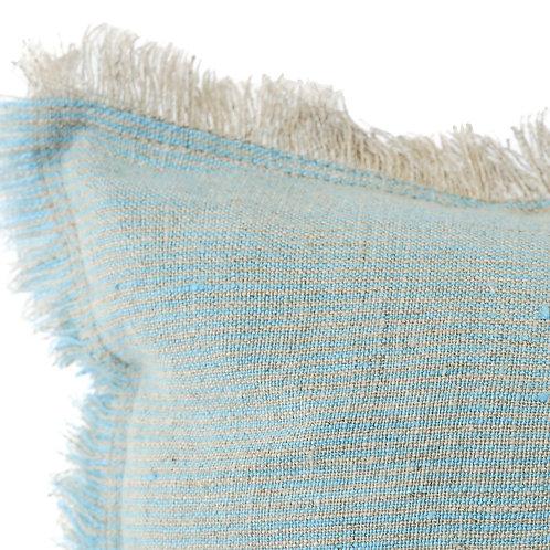 Blue + Beige Cross-dye Soft Linen Pillow