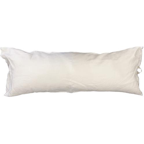 Down FilledWhite Linen Lumbar Pillow