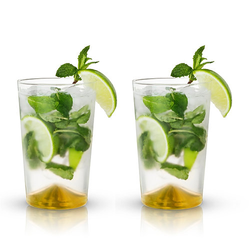 Derby Gold Pointed Cocktail Tumblers- Set of 2