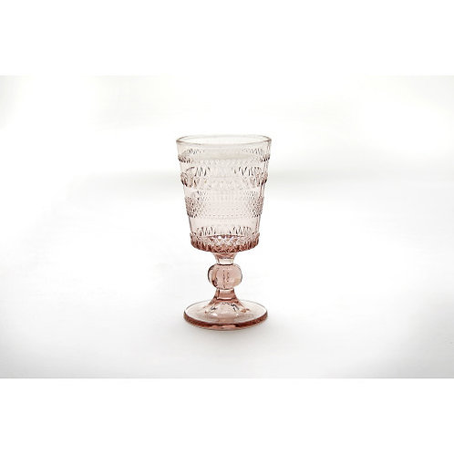 Dainnty Blush Beverage Glass- Stem