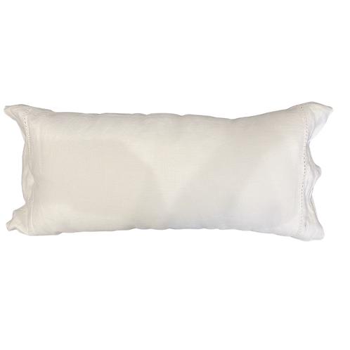Baby White Linen Lumbar Pillow