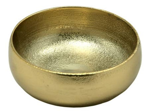 W&A Texture Bowl gold small