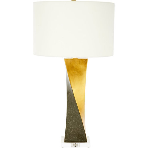 Gold and Grey Twist Lamp