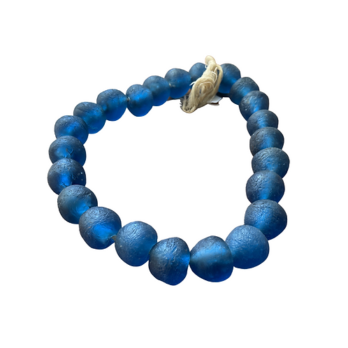 copy of Recycled Glass Beads- LargeBlue