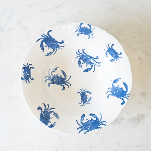 Crab Serving Bowl- Blue and White