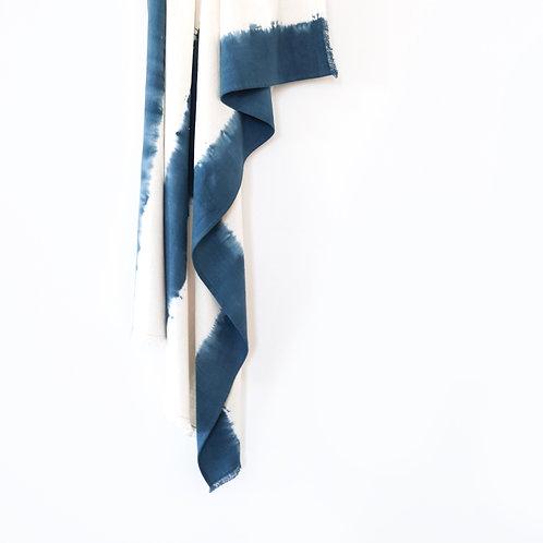 Indigo Blue Tie Dye Cotton Throw