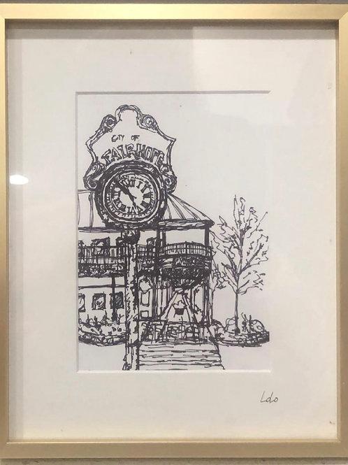 LoLo Original Art- Fairhope Clock