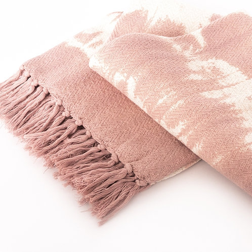 Pink Tie Dye Throw Blanket