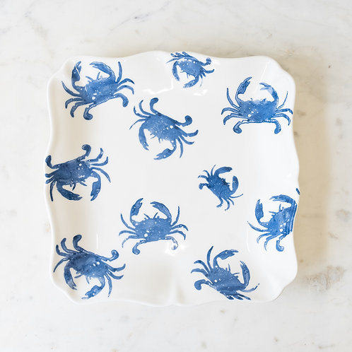 Crab Serving Platter- Blue and White