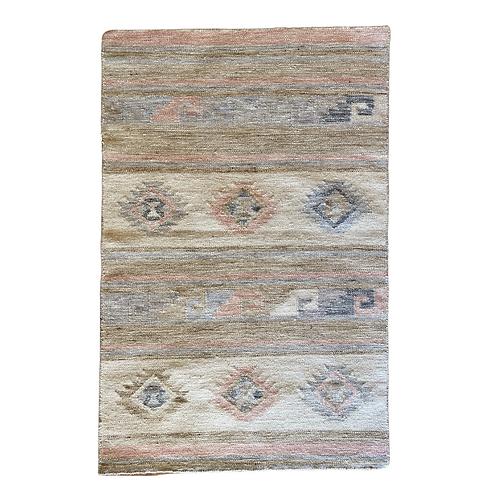 Meadow Pink Flatweave Wool Rug