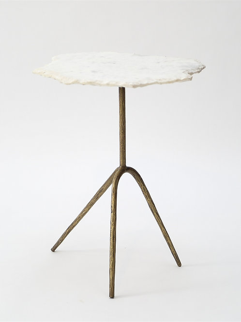 Distressed Marble Side table