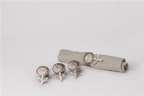 Flower Napkin rings - Nickel