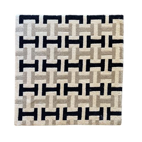 Hermes inspired Wool Rug