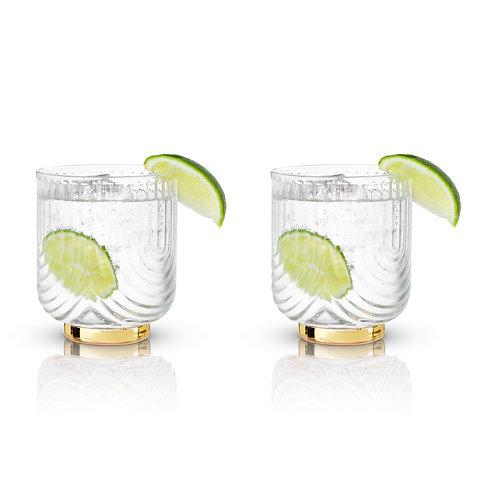 Daisy Glass Tumblers- Set of 2