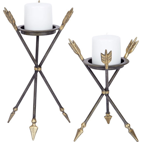 Arrow Candle Holders (set of 2)