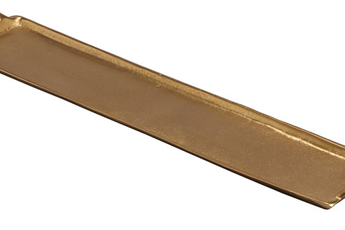"""24"""" Gold Textured Tray - Gold"""