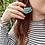 Thumbnail: Semicircle Macrame Earrings
