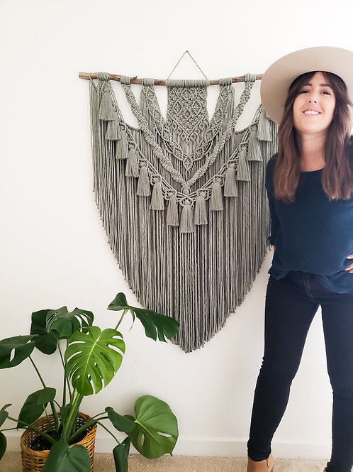 Large Macrame Wall Hanging- Multiple Color Options!
