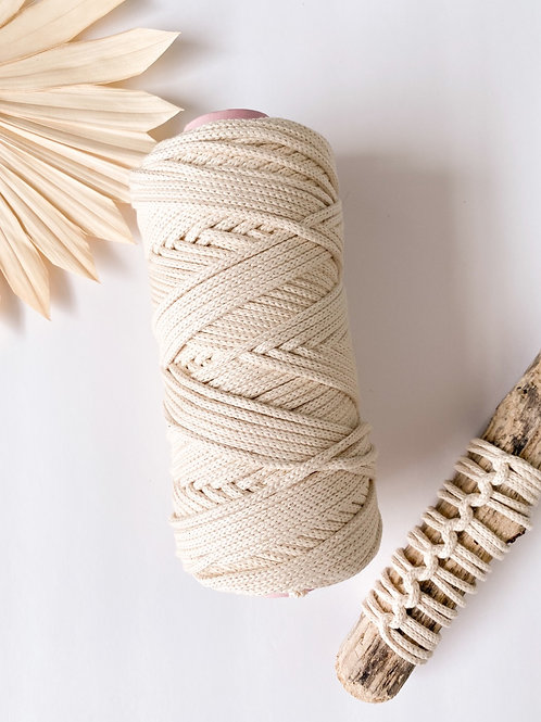 Braided 3.5mm Natural Cotton Rope - Half Spools