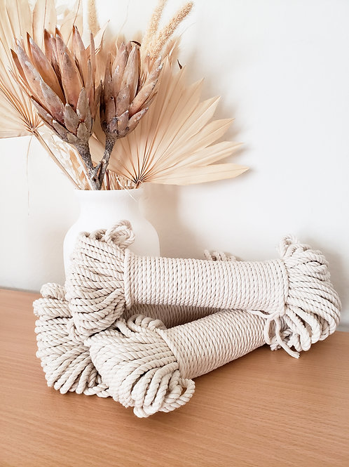5mm 3 ply Twisted Rope-100ft bundle