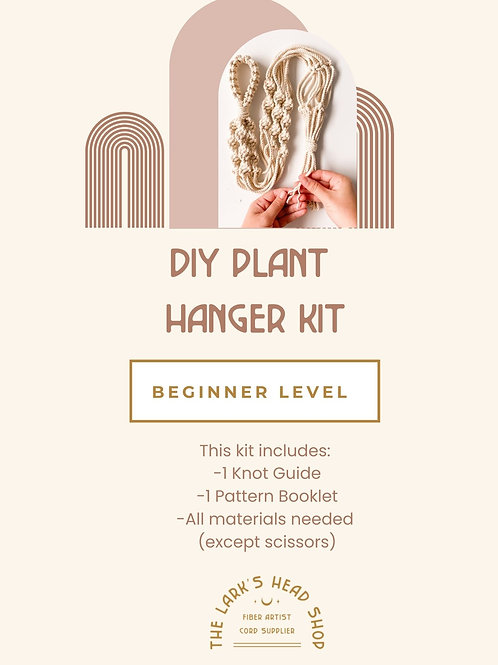 Macrame Plant Hanger Kit with Knot Guide