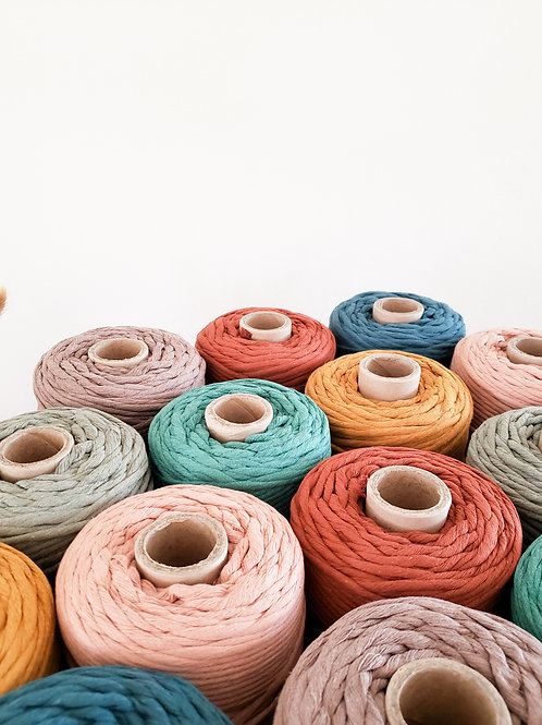 5mm Colored Supersoft Single Twist Cotton String