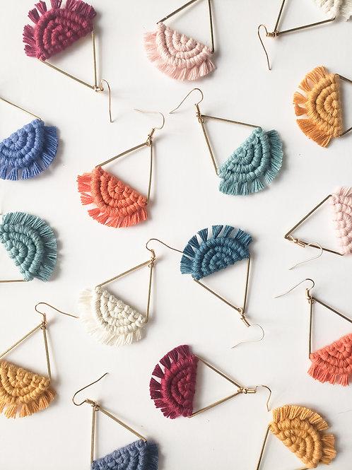Semicircle Macrame Earrings