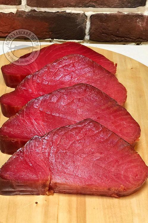 Желтоперый тунец холодного копчения, кг.