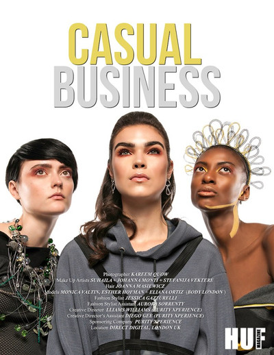 """Business-casual has turned to """"Casual Business"""" for Huf Magazine, shot at Direct Digital London , UK ************************************************************************* See the full editorial here: http://hufmagazine.com/casual-business-photography-by-kare…/ ************************************************************************* PHTG: Kareem Quow (using nikon + profoto gear) MUA: Johanna Monti  HAIR: Joanna Masiewicz MOD Esther Hofman ( courtesy of Body London) FSHN STYLST: Jessica Gazzurelli  FSHN STYL ASST: Aurora Sorrentino  CR DIR : Lliams Williams (Purity) CR DIR ASST: Diego Gee ( Purity) SPONSORING CO.: Purity LOC Direct Digital LONDON UK  ************************************************************************* Esther is wearing: Outfit by Sholly Jaay, Shoes by Zara and necklace by Zarna"""