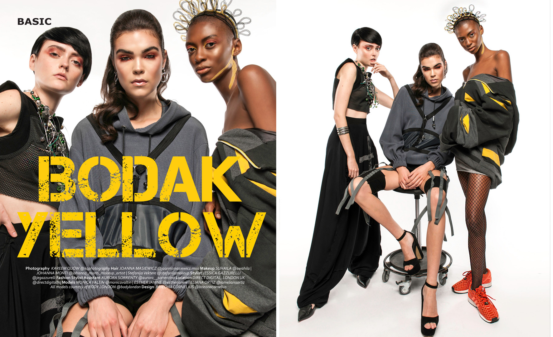 Basic Magazine http://basic-magazine.com/bodak-yellow-by-kareem-quow/ Photo @kqphotography(using @nikonusa and @profotoglobal gear courtesy of @directdigitalhq )  MUA (left-right) @johanna_monti_makeup_artist @stefanijamakeup  @swahilla  HAIR @joannamasiewicz.mua MODELS(left-right) @monicavaltin @estherjanine + @iamelianaortiz (all courtesy of @bodylondon) FSHN STYLST:@jegazzurelli @aurora___sorrentino CR DIR : @lliamss @purityxperience LOC @directdigitalhq LONDON UK