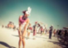 DJQP was playing DJ at Burning Man