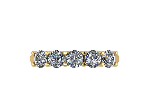 1.12carat Shared-claw 5-Stone Diamond Ring