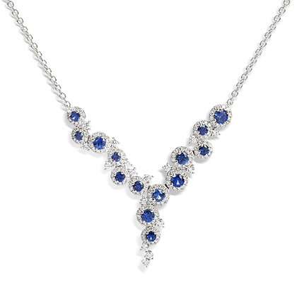 """Sapphire and diamond """"Dew""""  necklace"""