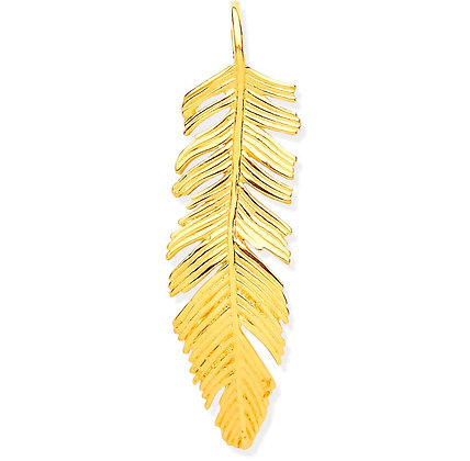 9k Gold Large Feather pendant