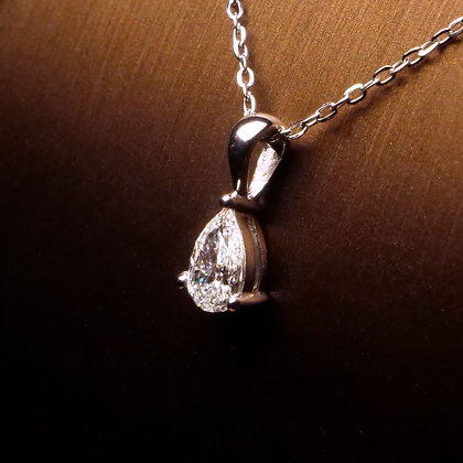 Pear Shaped Diamond Pendant upto 1ct