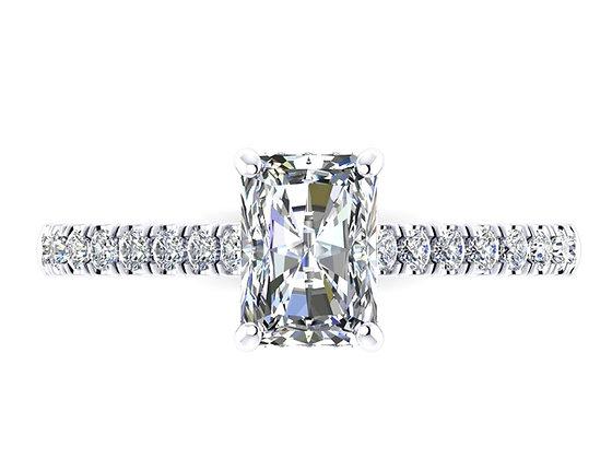 Radiant Cut Diamond Engagement Ring