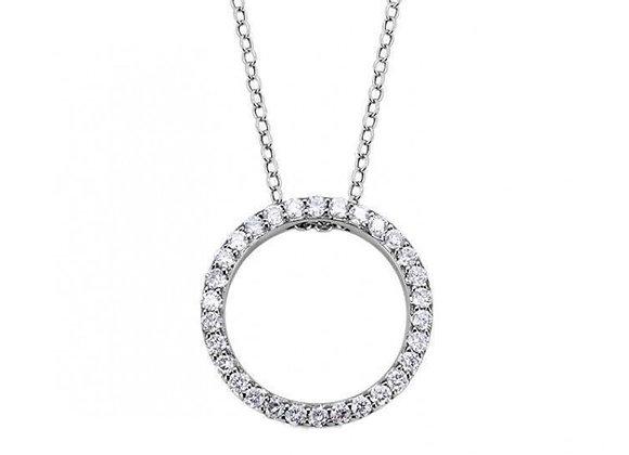 Circle halo Aura Diamond pendant