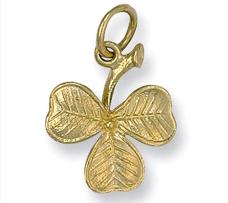 9k Gold Clover leaf pendant