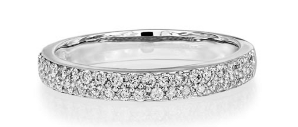 Two Row Pavé Set Eternity band