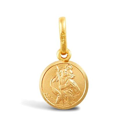 9k gold light St Christopher pendant